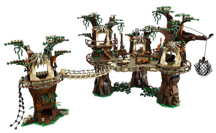 A LEGO 'Star Wars' Ewok Village set is pictured