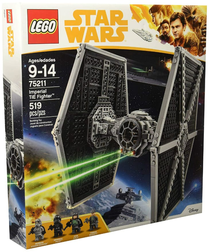 A LEGO 'Star Wars' Imperial TIE Fighter set is pictured