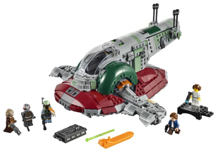 A LEGO 'Star Wars' set of the 'Slave I' ship is pictured