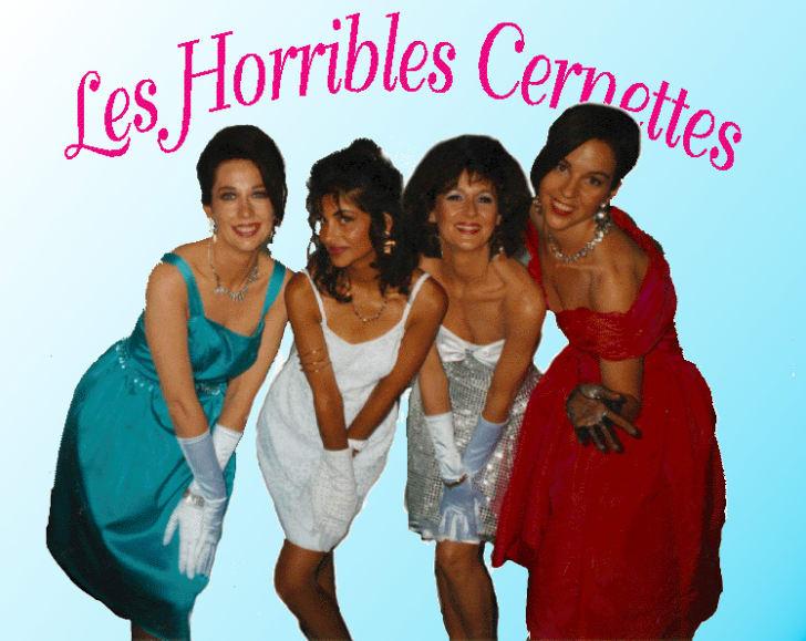Girl group in dresses.