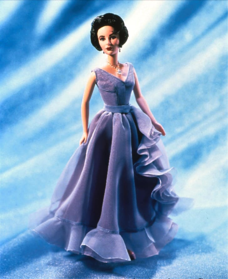 An Elizabeth Taylor Barbie doll.