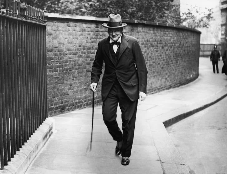 Winston Churchill in London in 1922.