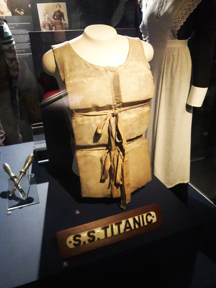 Titanic life belt and other artifacts