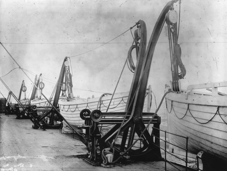 Life boats on board the TItanic