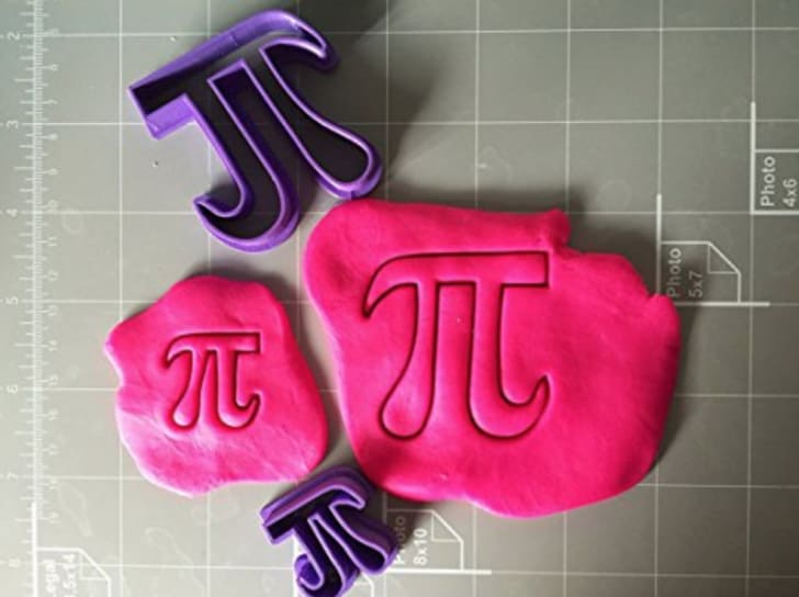Pi-shaped cookie cutters