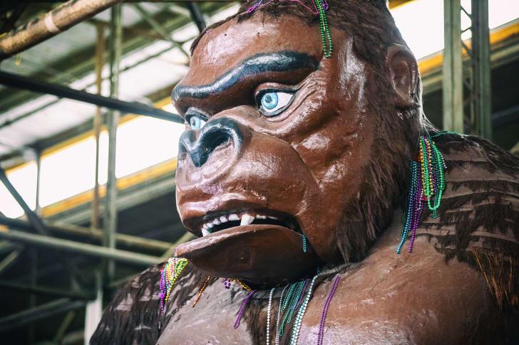 Gorilla statue at Mardi Gras World.
