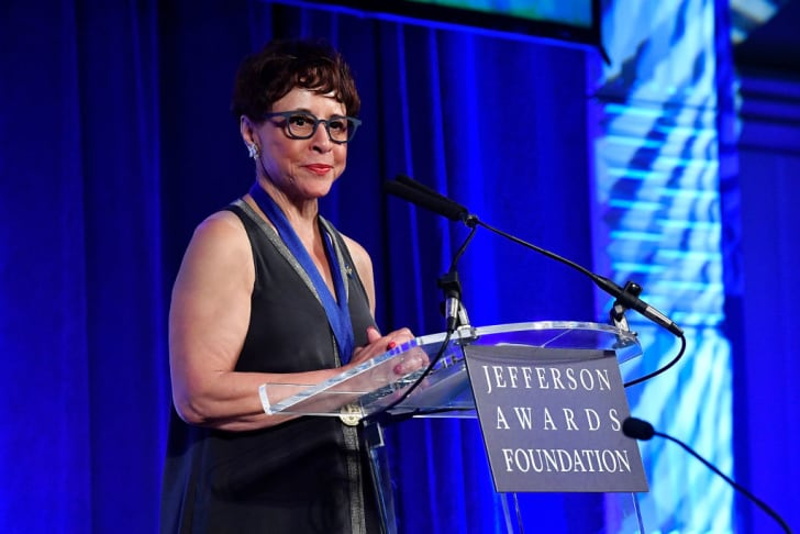 Sheila Johnson speaks on stage at The Jefferson Awards Foundation 2017 DC National Ceremony