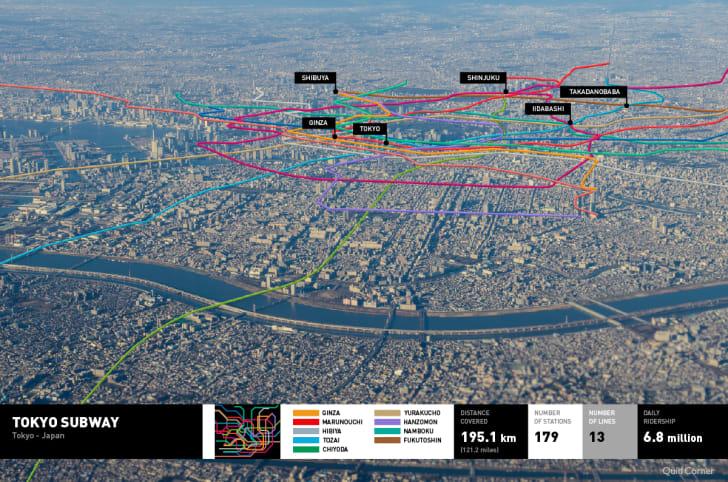 Tokyo's metro map