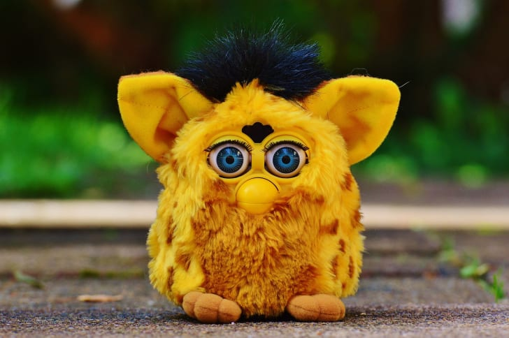 A yellow Furby