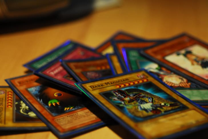 Yu-Gi-Oh! cards on a table