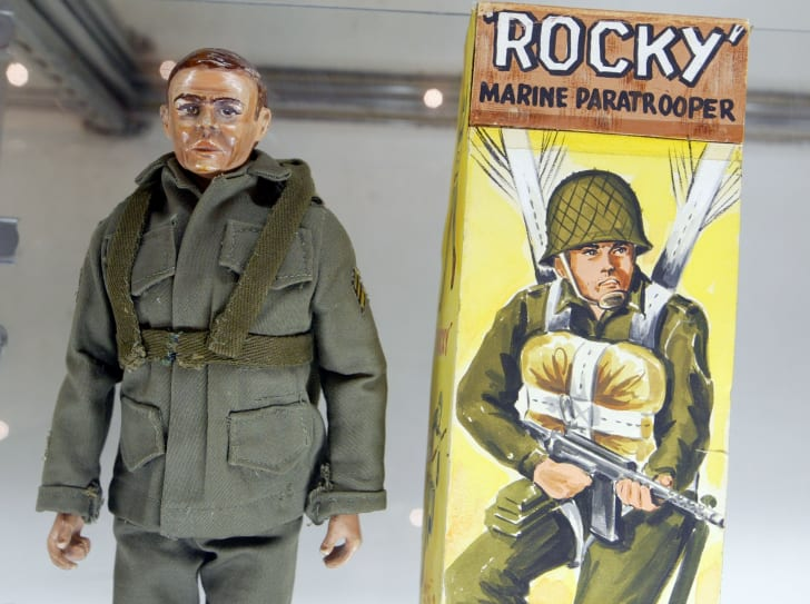 A vintage G.I. Joe prototype on display