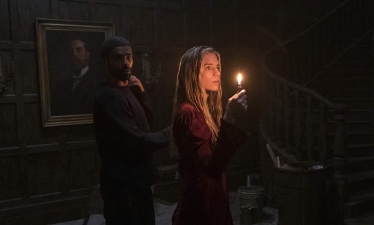 Brit Marling and Kingsley Ben-Adir in The OA
