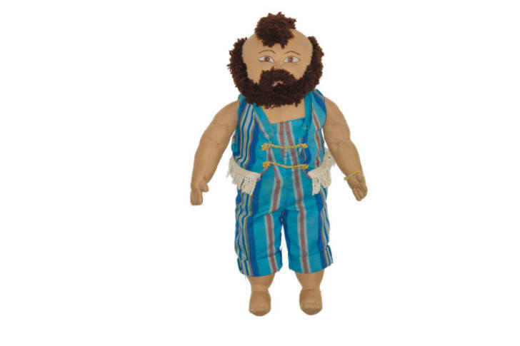 A Mr. T custom soft-sculpture doll is pictured
