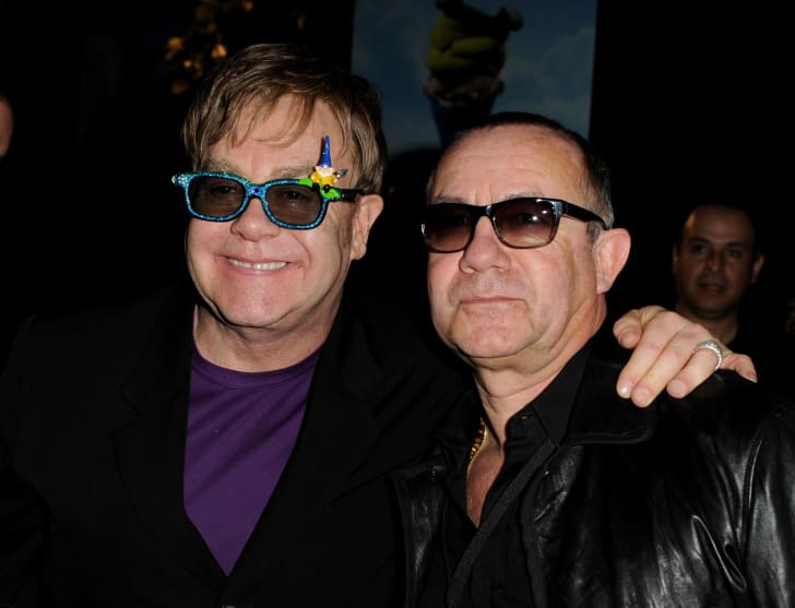 Elton John and Bernie Taupin attend an event in 2011.