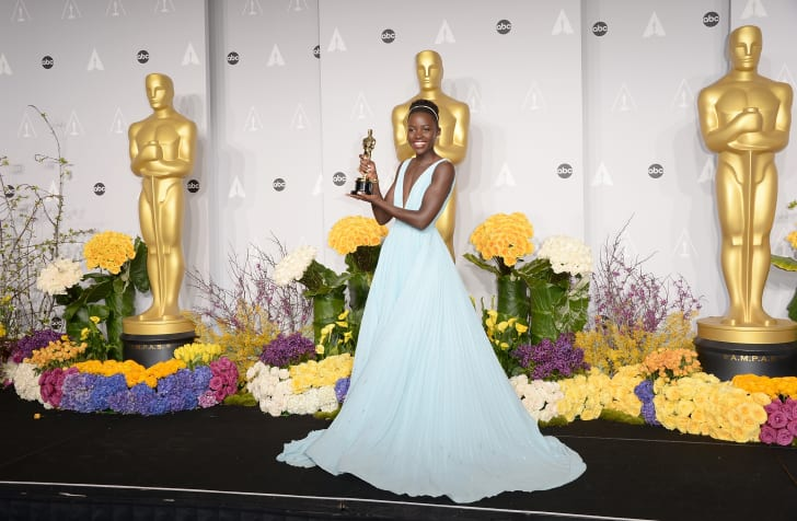 Lupita Nyong'o at the 2014 Academy Awards.