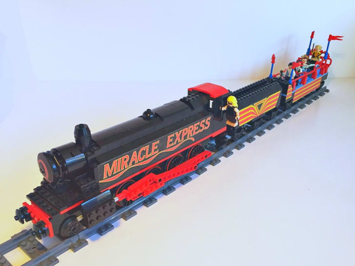 The Miracle Express LEGO train