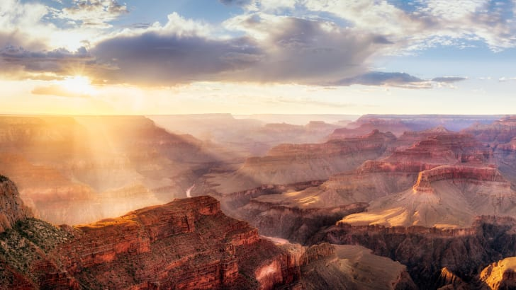 A view from the rim of the Grand Canyon