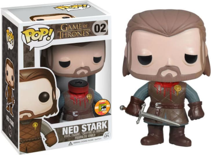 A Funko Pop! of Headless Ned Stark from 'Game of Thrones' is pictured
