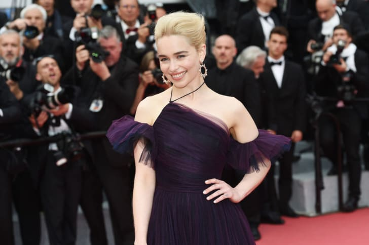 Emilia Clarke attends the European Premiere of 'Solo: A Star Wars Story' at Palais des Festivals on May 15, 2018 in Cannes, France