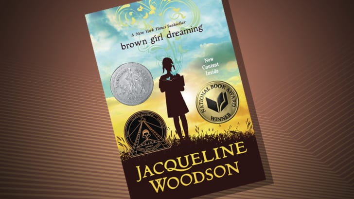 The cover of 'Brown Girl Dreaming' by Jacqueline Woodson