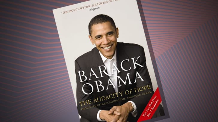 The cover of 'The Audacity' of Hope by Barack Obama