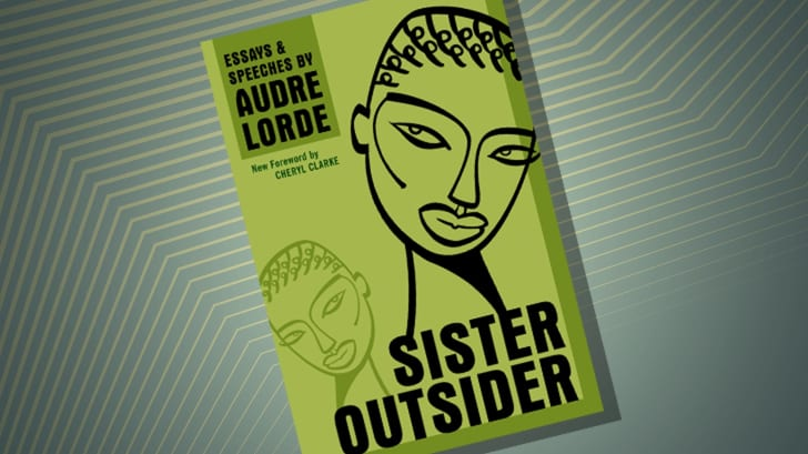The cover of 'Sister Outsider' by Audre Lorde
