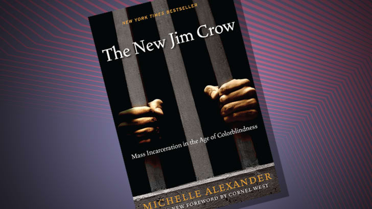 The cover of 'The New Jim Crow' by Michelle Alexander