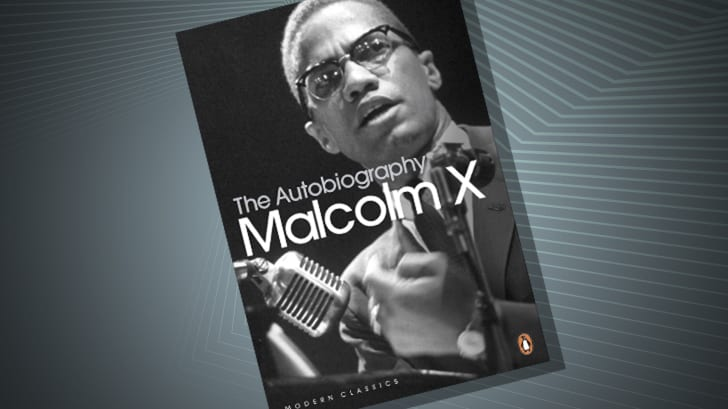 The cover of 'The Autobiography of Malcom X'