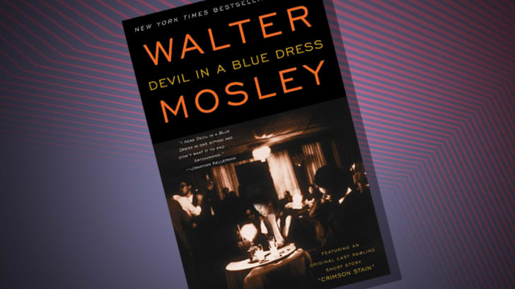 The cover of 'Devil in a Blue Dress' by Walter Mosley