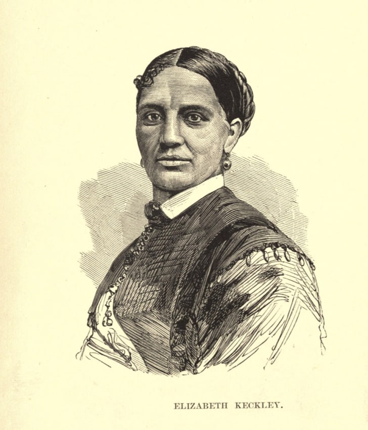 A drawing of Elizabeth Hobbs Keckley from her book