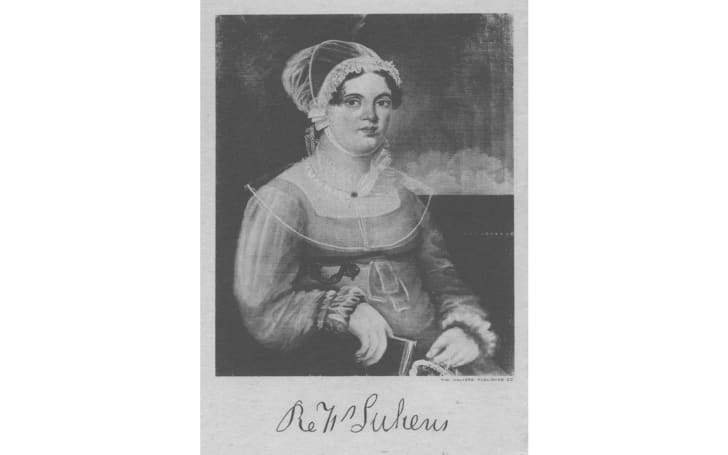 Printed picture of Rebecca Lukens, c. 1820