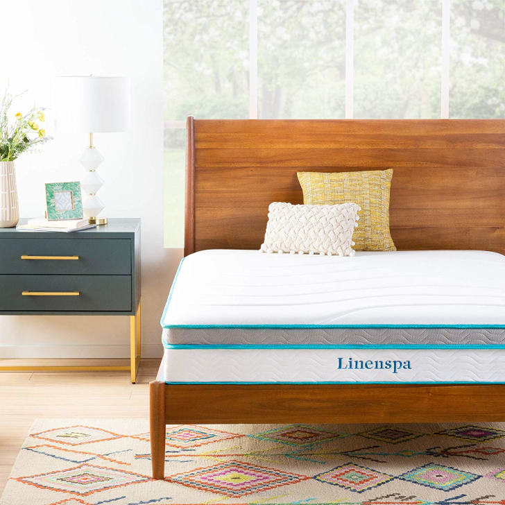 The Linenspa memory foam and innerspring hybrid mattress