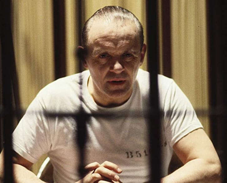 Anthony Hopkins as Hannibal Lecter in 'The Silence of the Lambs' (1991)
