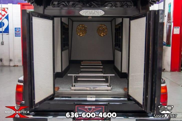 Interior of the hearse