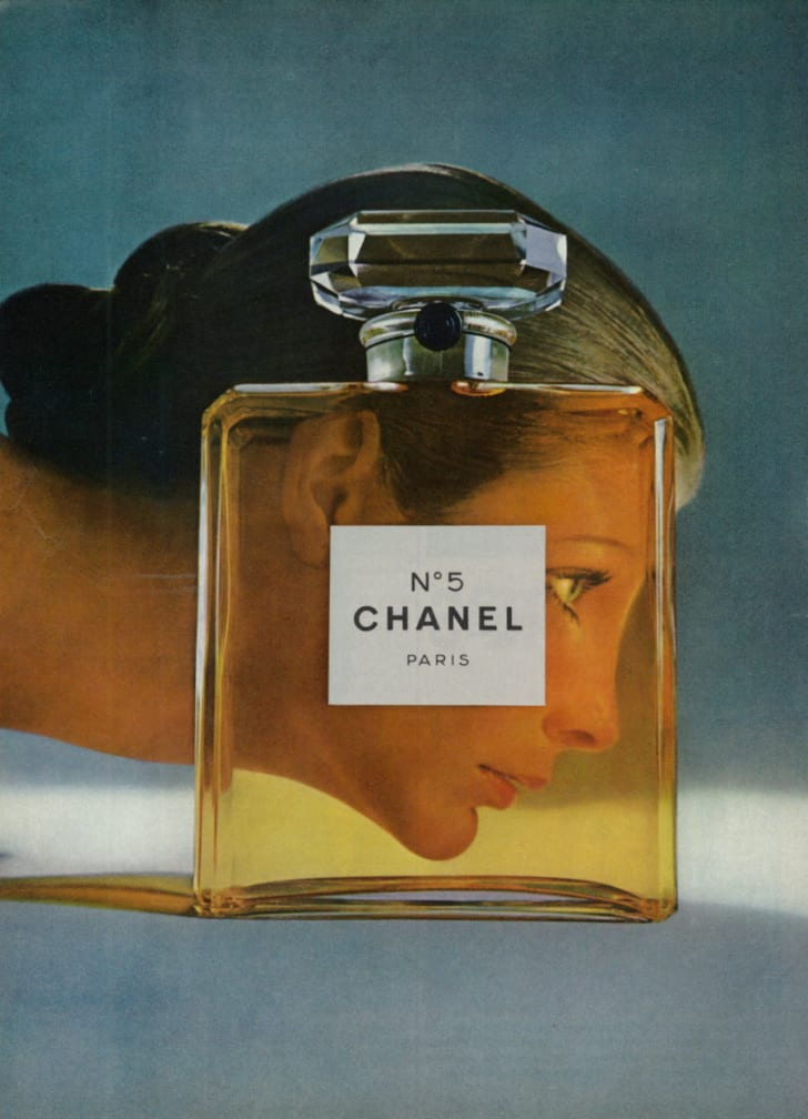 A Chanel No.5 ad in a 1971 magazine.
