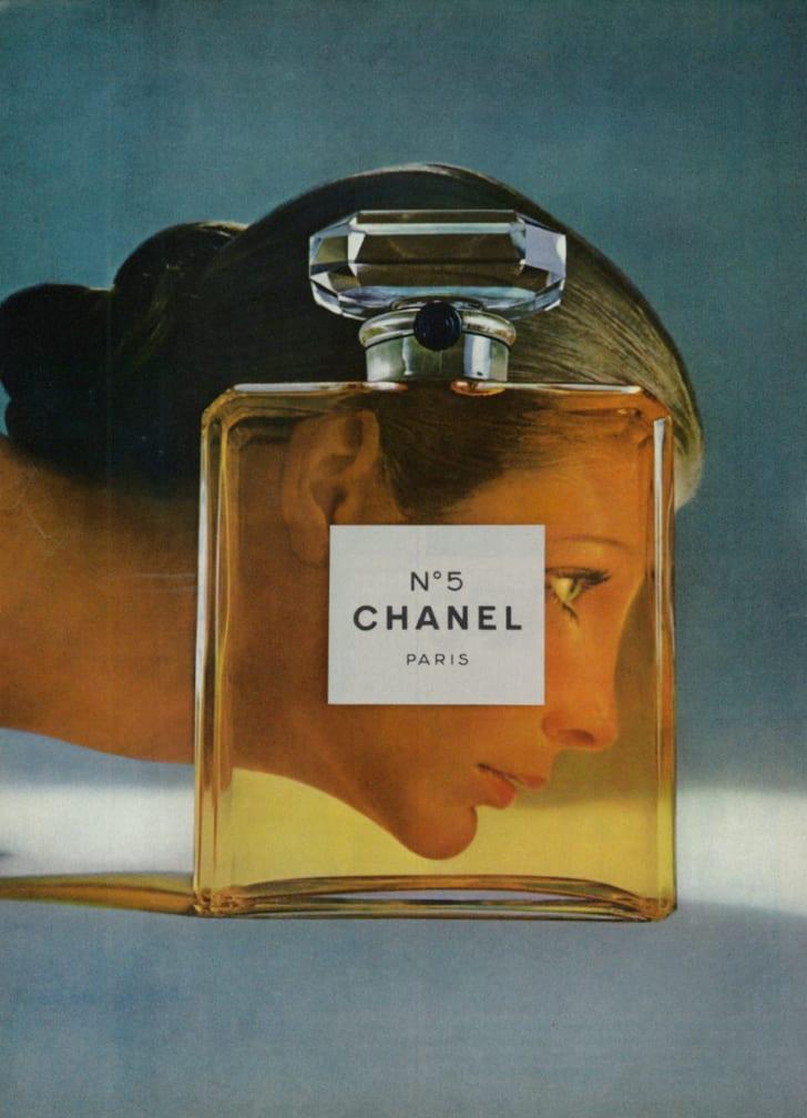 A Chanel No.5 ad in a 1971 magazine.