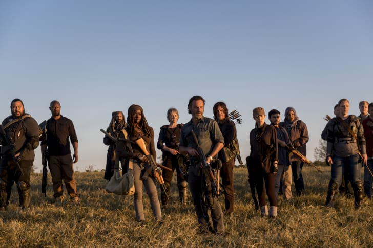 Cooper Andrews as Jerry, Khary Payton as Ezekiel, Danai Gurira as Michonne, Melissa McBride as Carol Peletier, Andrew Lincoln as Rick Grimes, Norman Reedus as Daryl Dixon, Christian Serratos as Rosita Espinosa