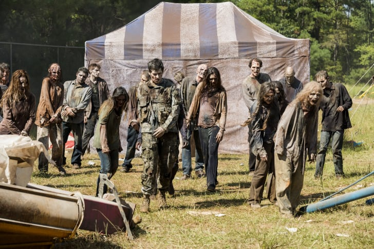 Walkers in a scene from 'The Walking Dead'