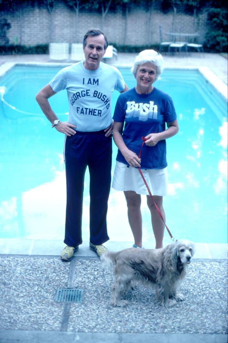 George H.W. Bush and wife Barbara Bush in November 1978.