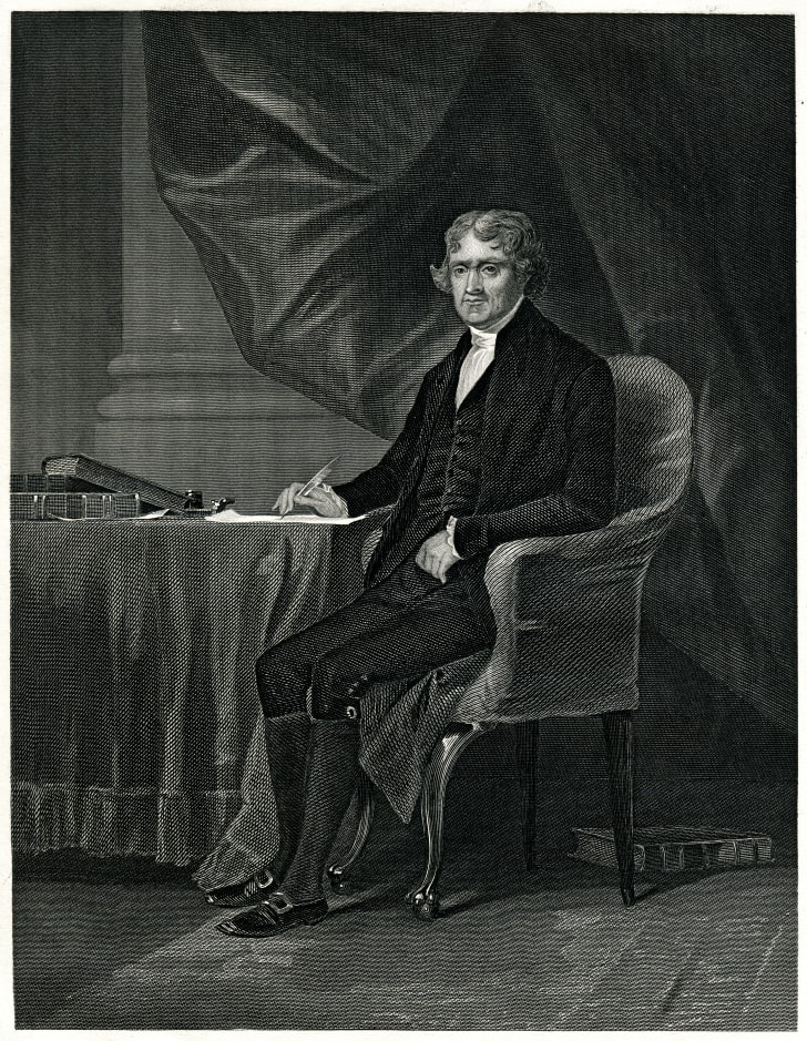 Portrait of Thomas Jefferson.