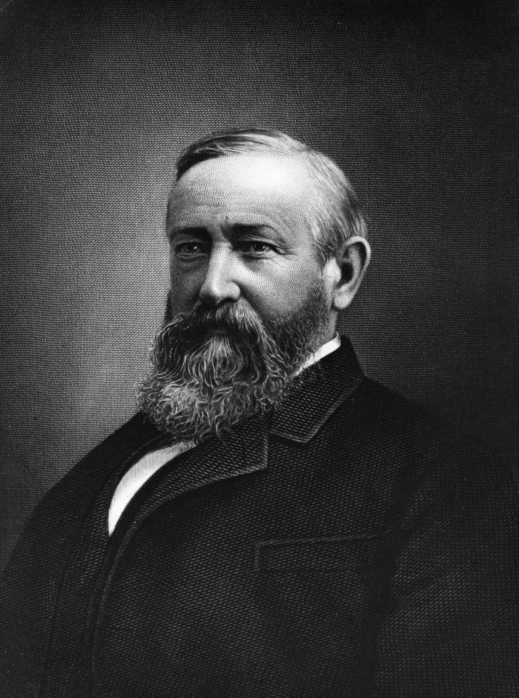 Portrait of Benjamin Harrison.