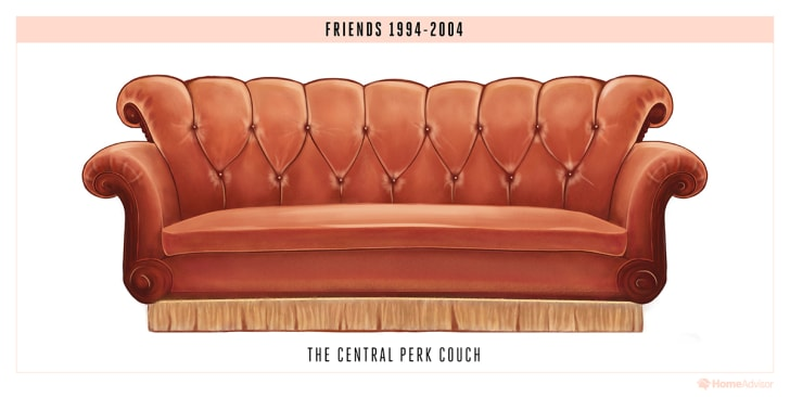 A sofa from Friends