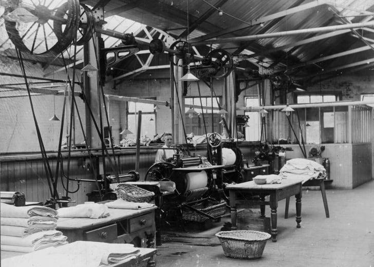 A laundry operation circa 1925
