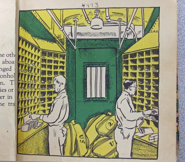 An illustration inside the book