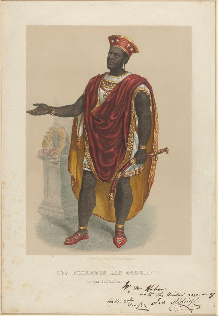 Ira Aldridge in the role of Othello, 1854
