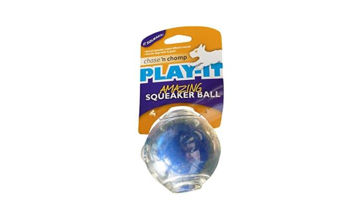 A Chase 'n Chomp squeaker ball