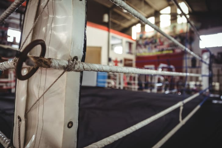 Picture of a wrestling ring