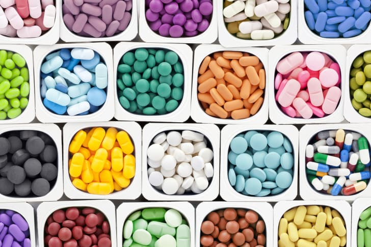 Colorful pills and medications