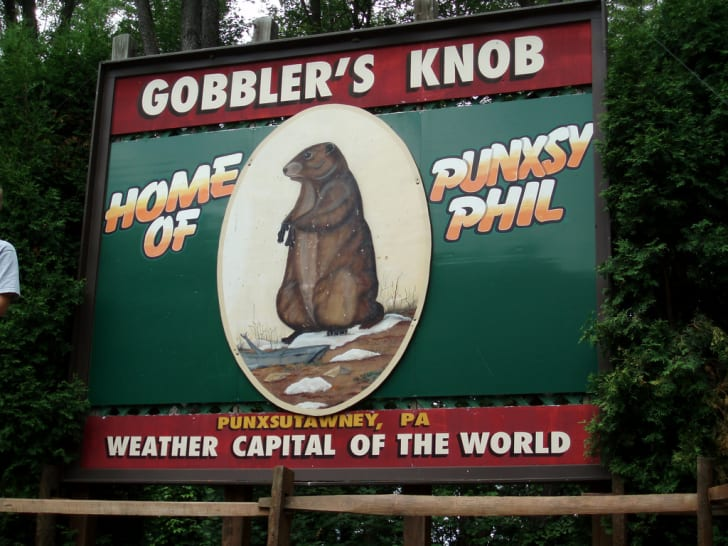 The town sign of Gobbler's Knob