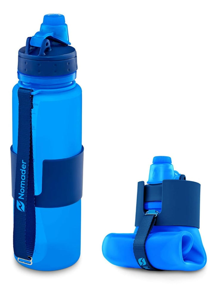 A Nomader collapsible water bottle is pictured